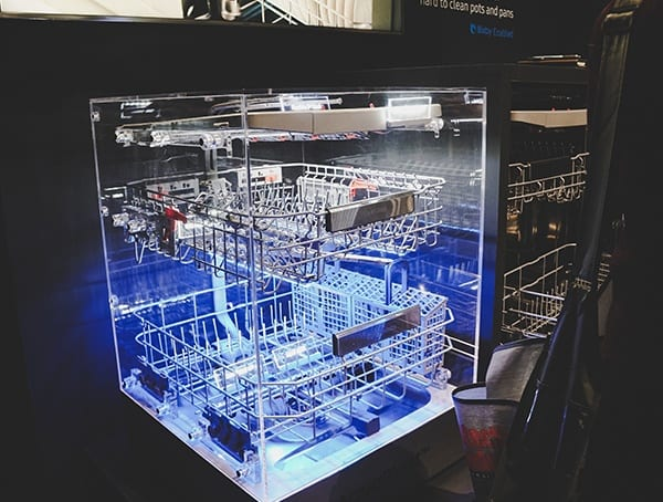 Samsung Blue Led Glowing Dishwasher 2019 Nahb Show