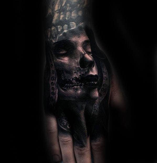 Samuari 3d Hand Tattoos For Guys