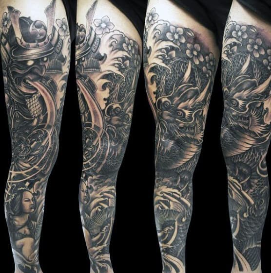 Samurai Champloo Sleeves Tattoo For Men