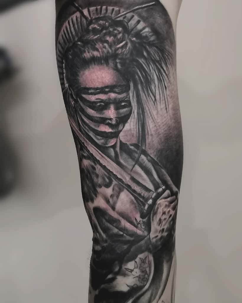 Samurai Ezta Killer Ink Tattoo