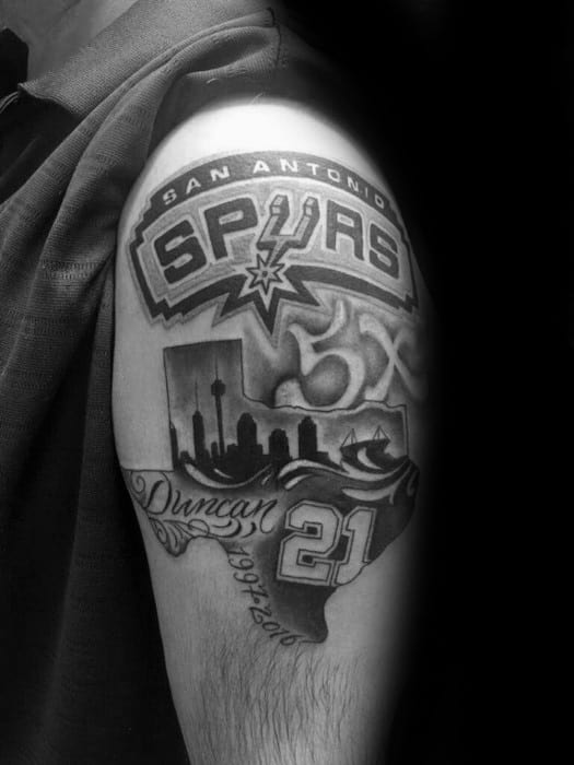 San Antonio Spurs Guys Tattoo Ideas On Upper Arm