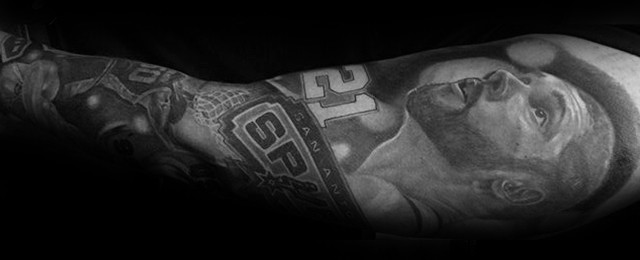 San Antonio Spurs Tattoos For Men