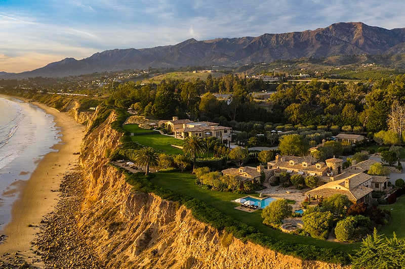 Two-Mansion Oceanfront Estate in Santa Barbara Lists for $160 Million