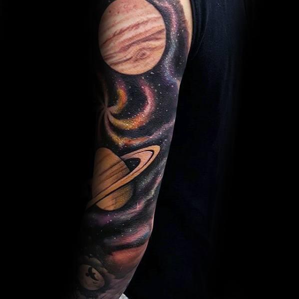 Saturn Guys Tattoo Ideas
