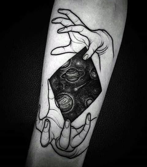 Saturn Mens Tattoo Designs