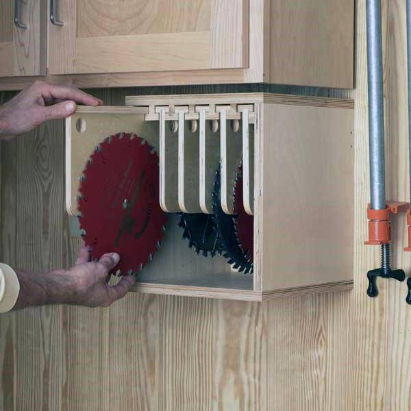 Saw Blades Tool Storage Ideas