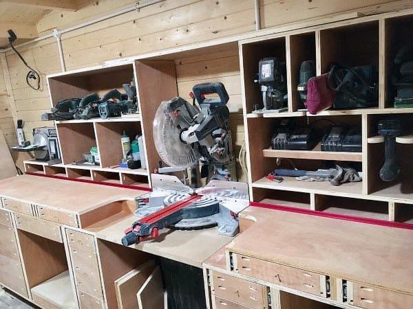 Saw Workbench Tool Storage Ideas