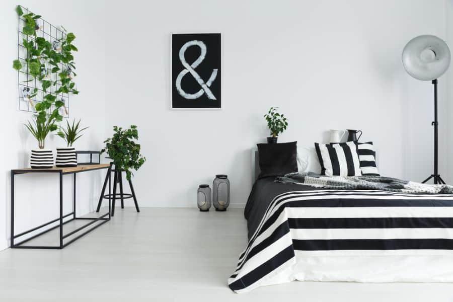 scandinavian black and white bedroom ideas 2