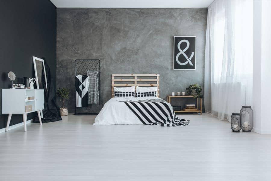 scandinavian black and white bedroom ideas 3