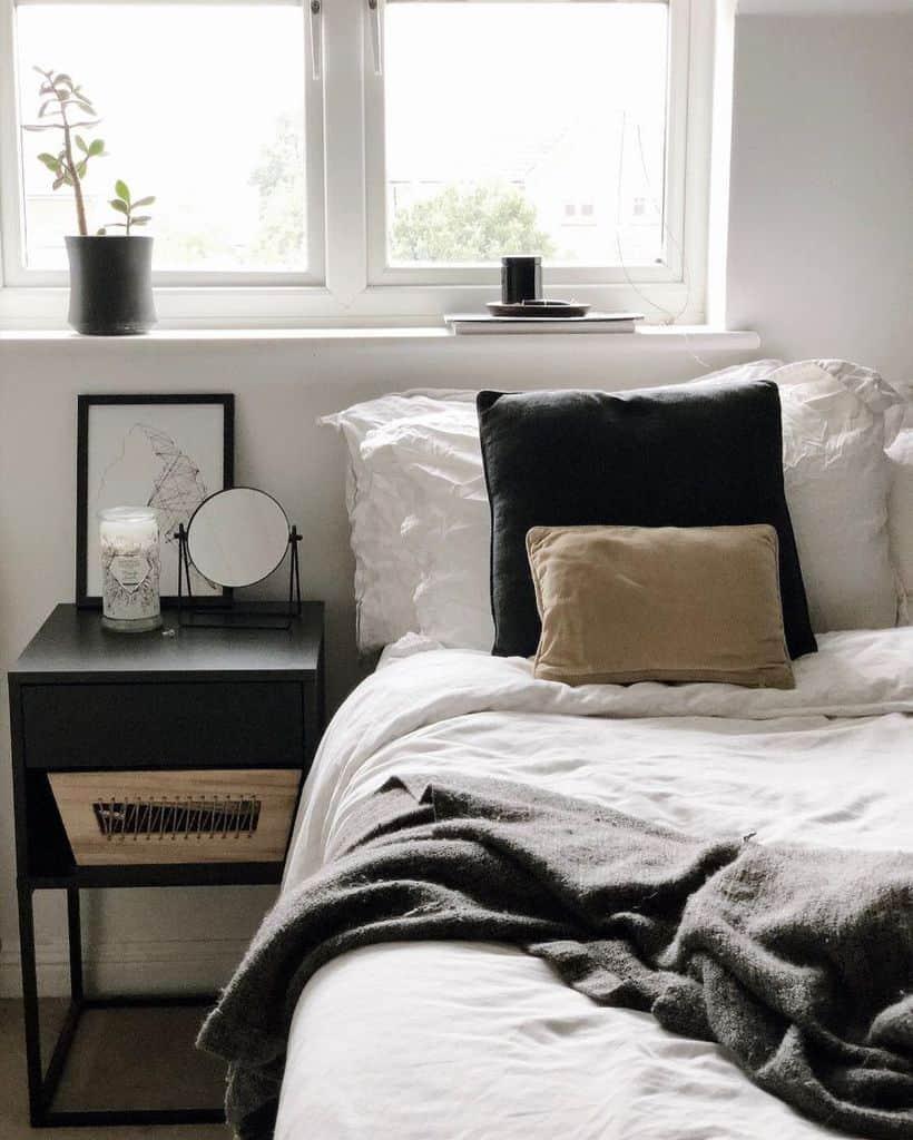 scandinavian black and white bedroom ideas klauddesign_