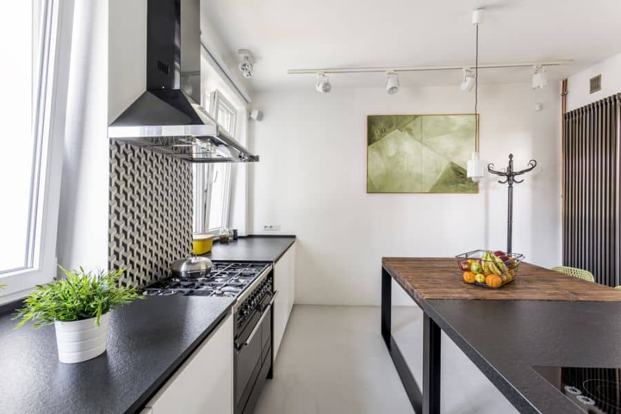 Scandinavian Black And White Kitchen 1
