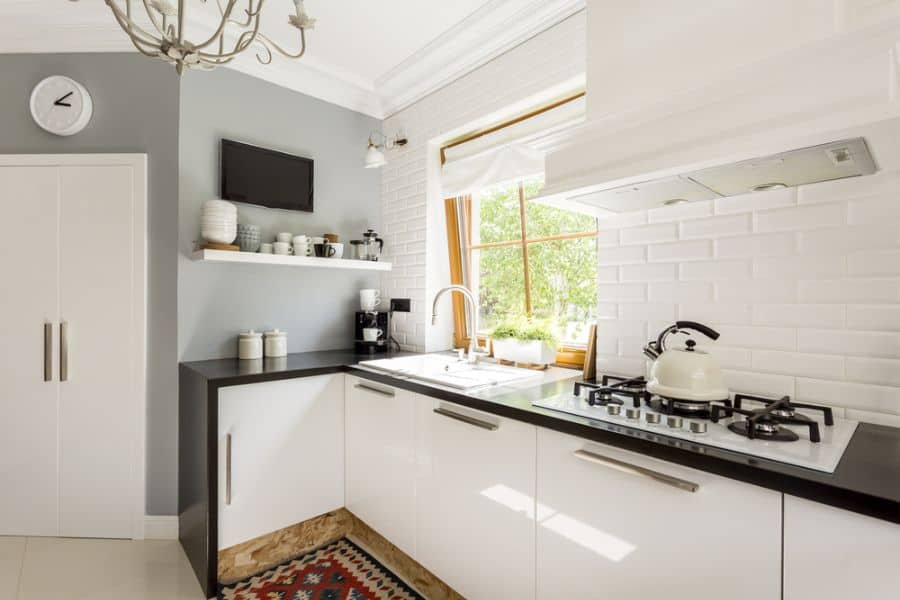 Scandinavian Black And White Kitchen 2