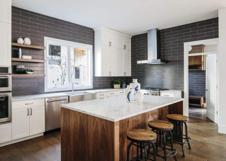 Scandinavian Black And White Kitchen 3