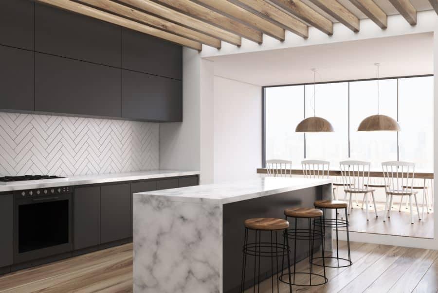 Scandinavian Black And White Kitchen 4
