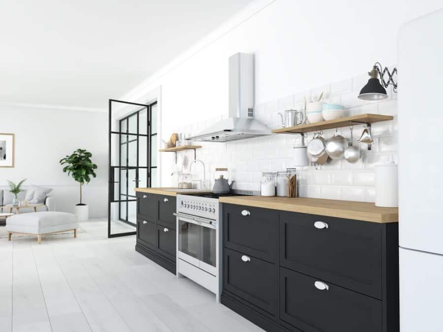 Scandinavian Black And White Kitchen 5