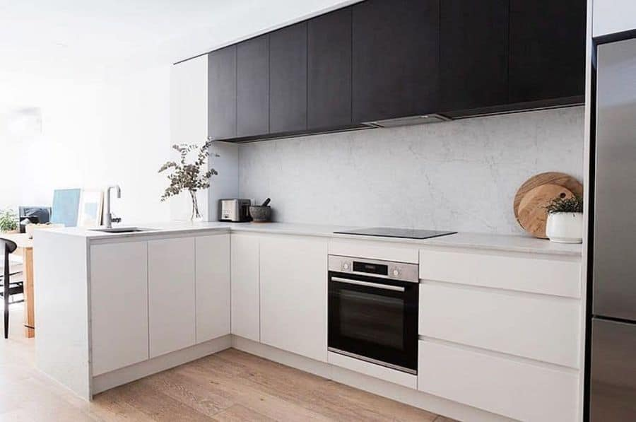 Scandinavian Black And White Kitchen Theporcelainfactory