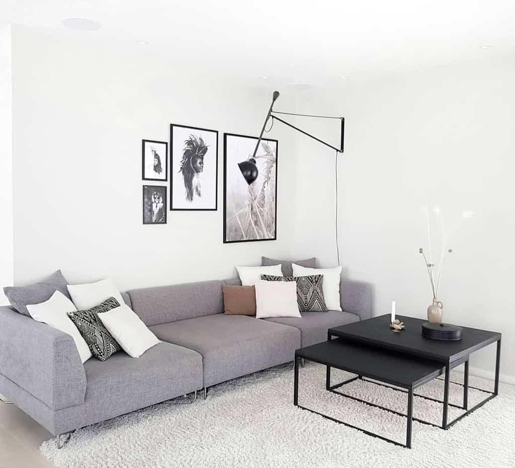 Scandinavian Minimalist Living Room Siljecathmoran