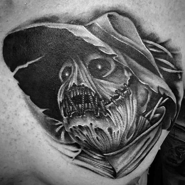 Scarecrow Mens Tattoo Designs