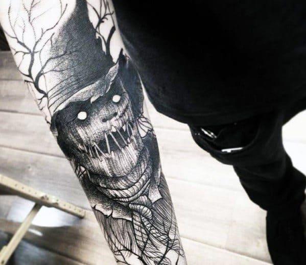 Scarecrow Tattoo Design On Man