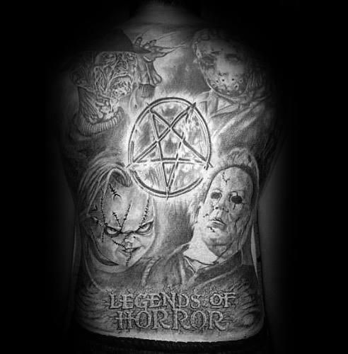 Scary Movie Tattoo Design Ideas For Men