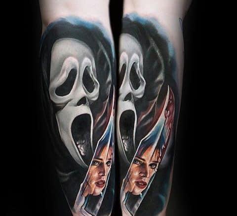 Scary Movie Tattoo Ideas For Men