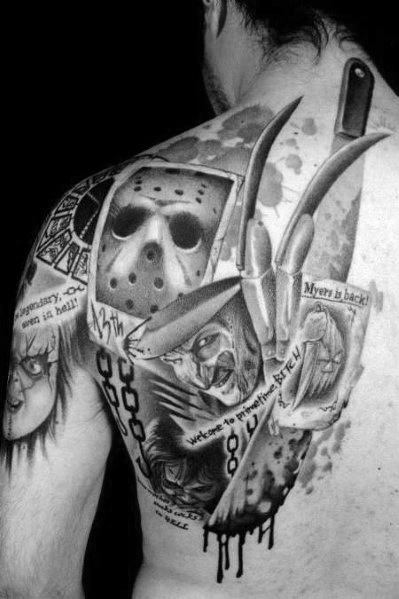 Scary Movie Tattoos For Men