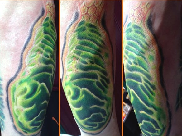 Scientific Tattoo Of Mitochondria Strain For Males