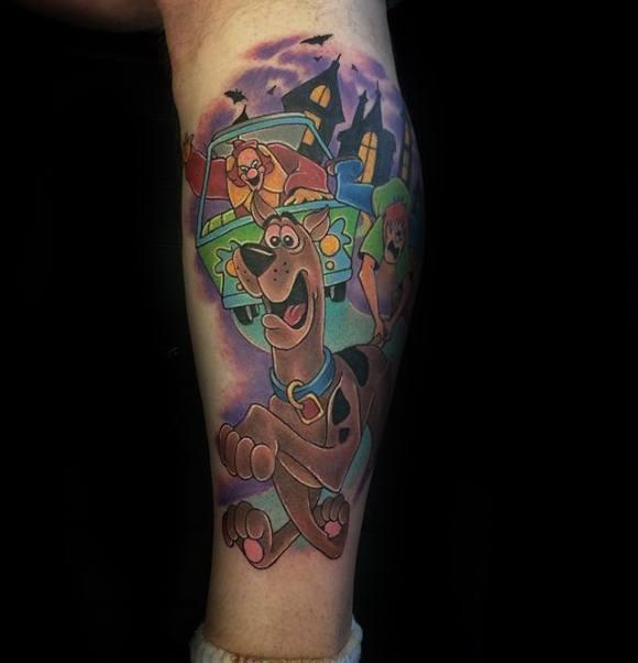 Scooby Doo Tattoo On Men