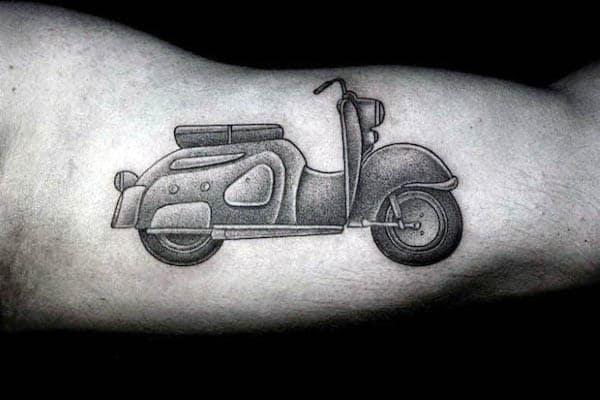 Scooter Pointillism Mens Inner Arm Tattoos