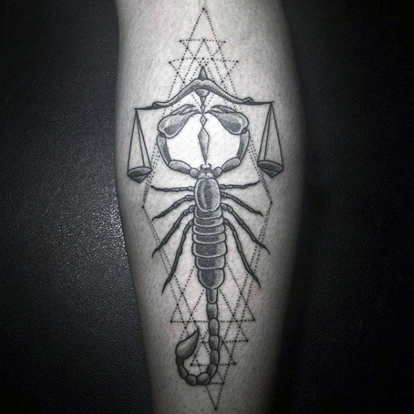 Scorpion With Grey Scales Tattoo On Forearms For Men