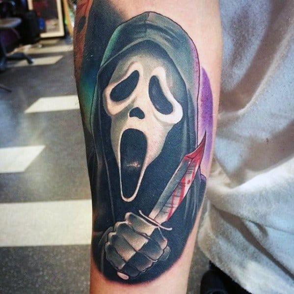 Scream Cool Horror Movie Tattoos For Men