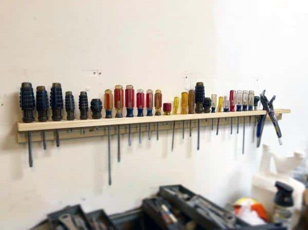 Screwdriver Holder For Wall Tool Storage Ideas