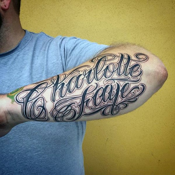 60 Name Tattoos For Men Lettering Design Ideas