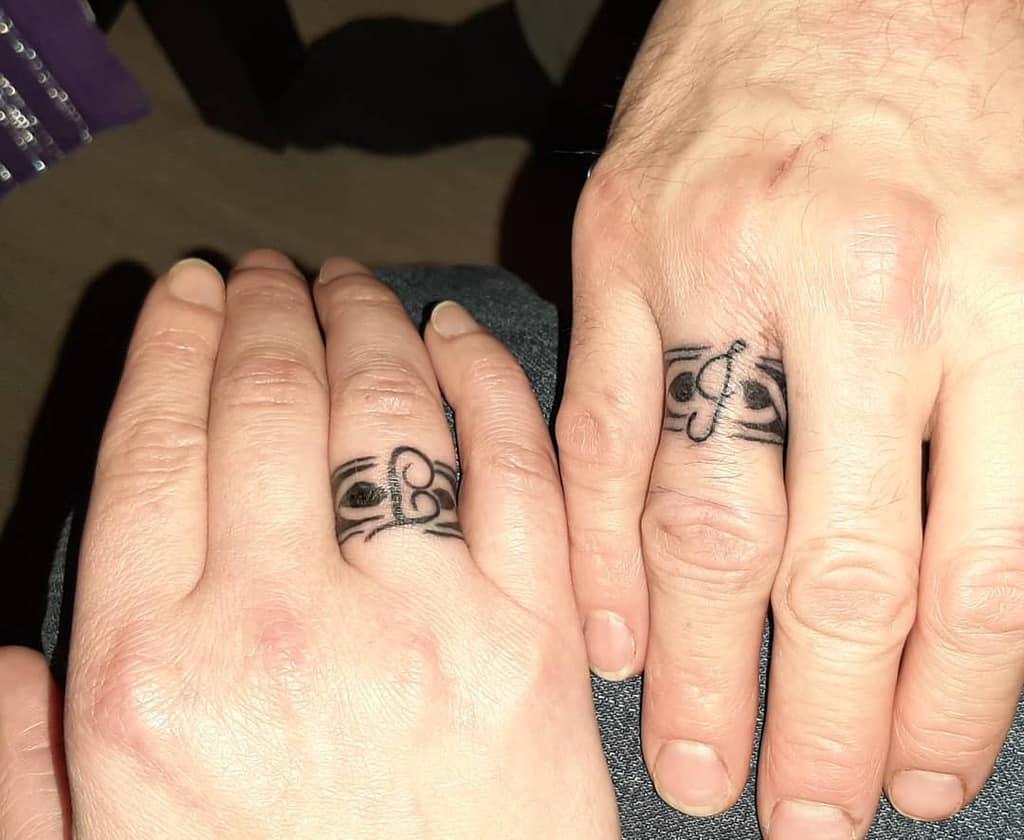 Script Wedding Ring Tattoo Jasminkarlsen