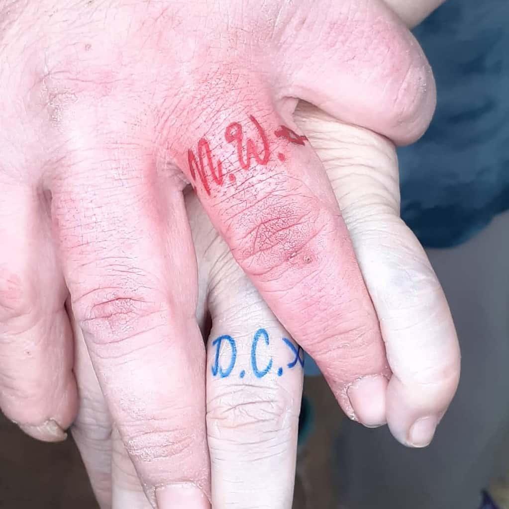 Script Wedding Ring Tattoo Pattoosink