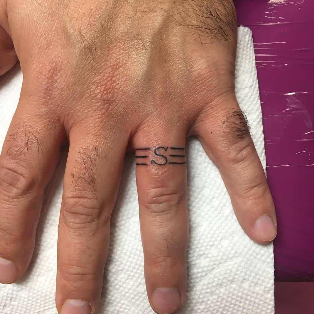 Script Wedding Ring Tattoo Royaltytattoo