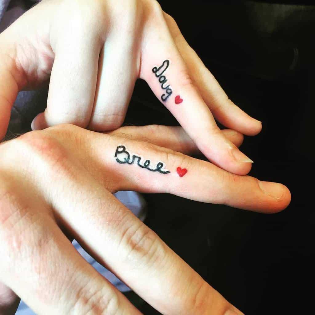 Script Wedding Ring Tattoo Tattoosbymattpumphrey