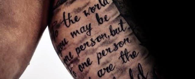Scroll Tattoos For Men
