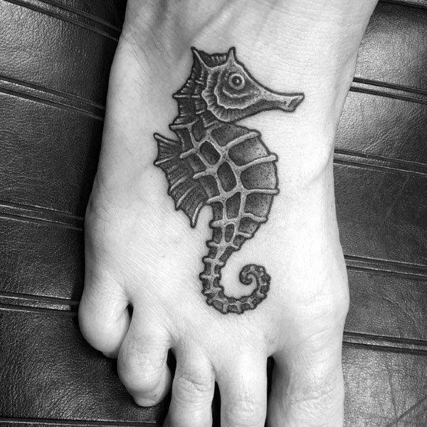 Seahorse Male Tattoos