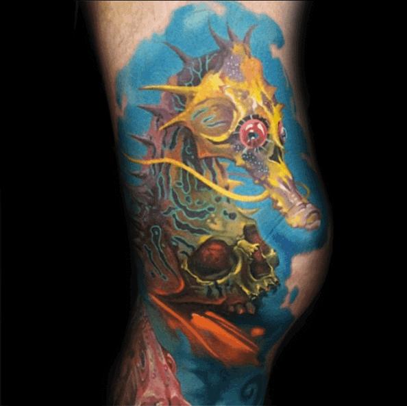 Seahorse Tattoos For Men