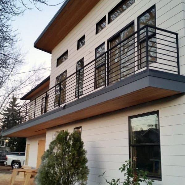 Second Story Balcony Metal Deck Railing Ideas