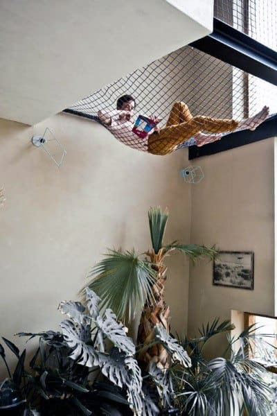Top 40 Best Indoor Hammock Ideas Cozy Hanging Spots