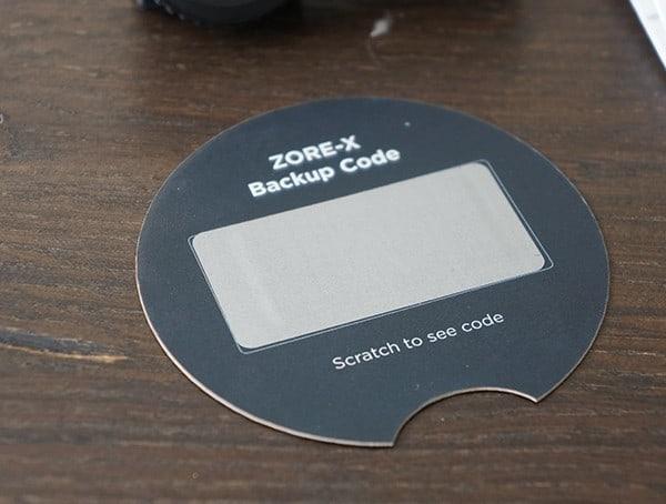 Secret Backup Scratch Off Code Zore X Core 9×19