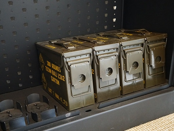 Security Ammo Can Storage Cabinet