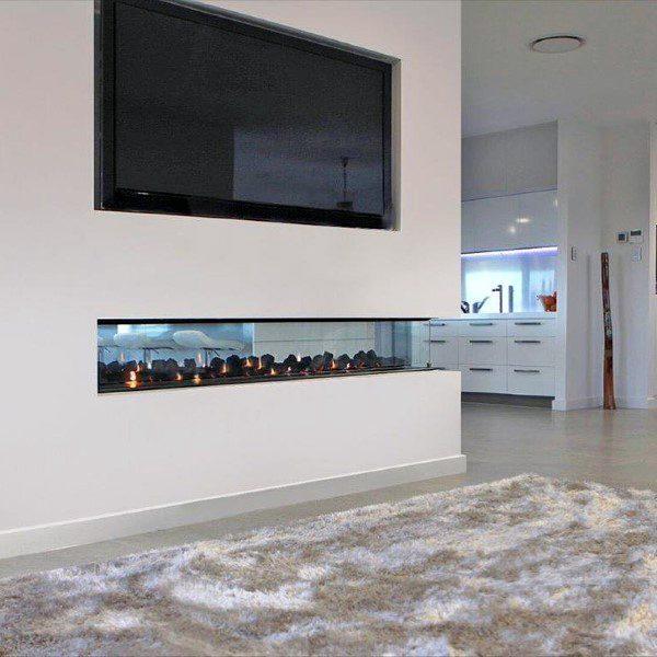 See Through Gas Fireplace Design Ideas