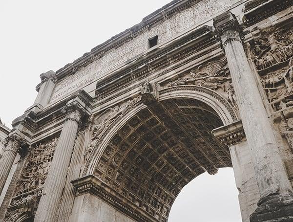 Septimius Severus Arch Rome Italy