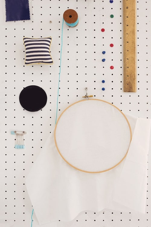 Sewing Equiptment Storage Display Pegboard Ideas