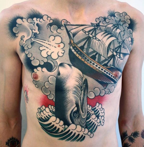 Sexy Chest Tattoos For Men