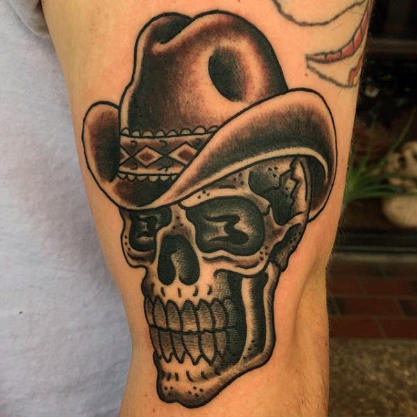 Traditional Cowboy Boot Tattoo