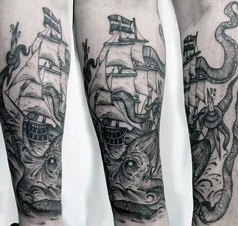100 Kraken Tattoo Designs For Men Sea Monster Ink Ideas